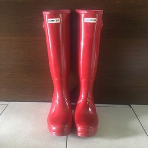 Hunter Tall Red Boots